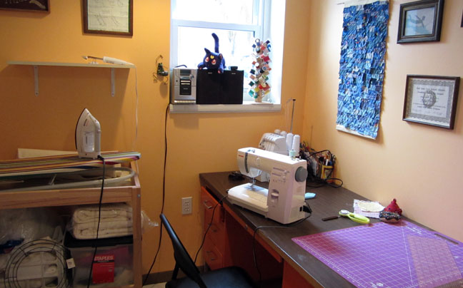 ironing and cutting stations