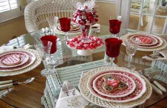 Decoracion de una mesa para Cena romantica
