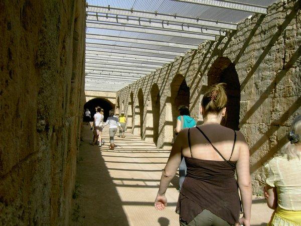 Туннель под ареной римского амфитеатра