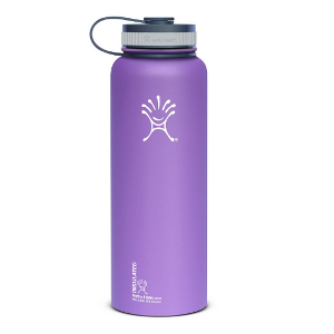 Hydro Flask Insulated Wide Mouth Stainless Steel Water Bottle, Classic Stainless, 32-Ounce - image