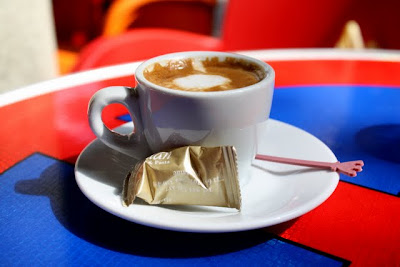 Espresso at a cafe in Pristina Kosovo