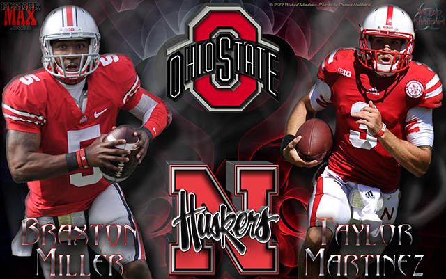 Nebraska Vs Ohio State Braxton Miller Taylor Martinez Gameday Wallpaper