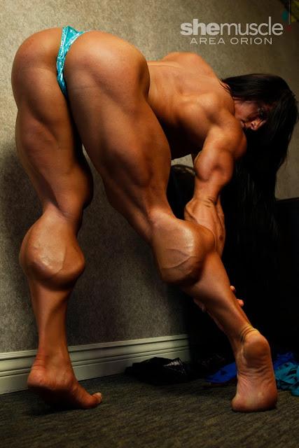 Katka Kyptova female muscle morph