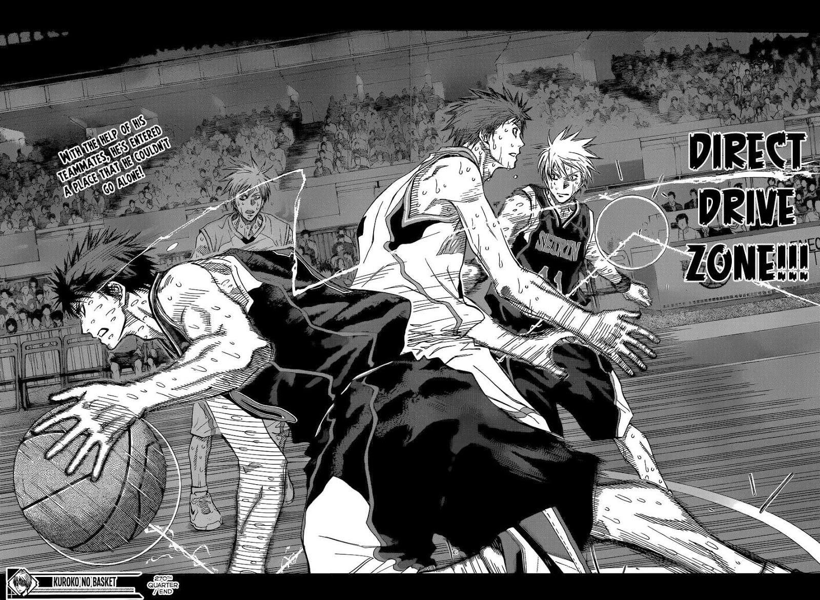 Kuroko no Basket Manga Chapter 270 - Image 17-18