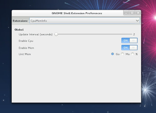 CpuMemInfo - Gnome Shell Extension Preferences