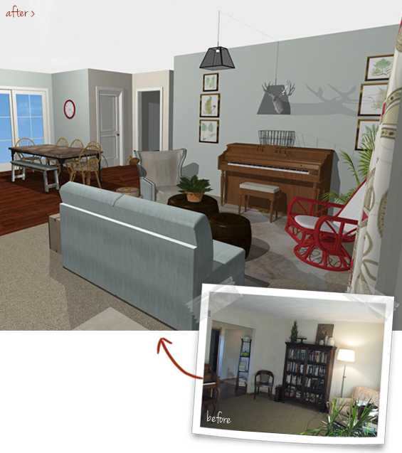 Entry Room Virtual Makeover After