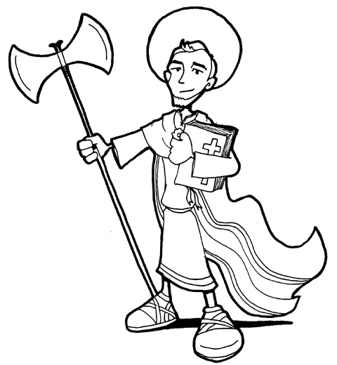 Saint Judas Taddeus coloring pages