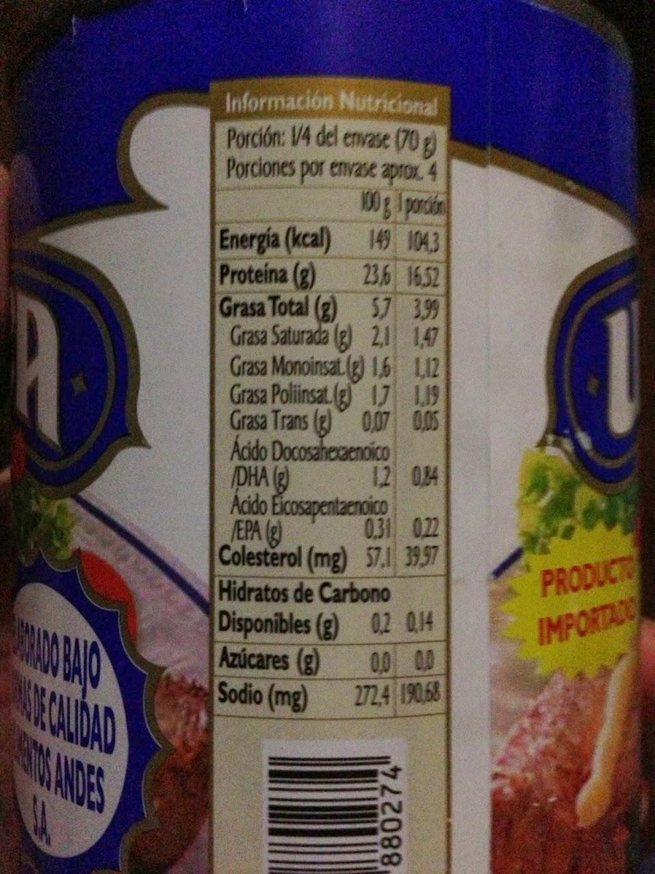 Diferencias en info nutricional del Jurel IMG_1354