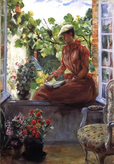 Norbert Goeneutte - Portrait of Anna Goeneutte Wearing a Beret