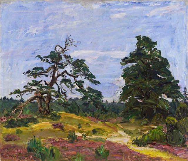 Max Slevogt - Heide und Bäume 1910