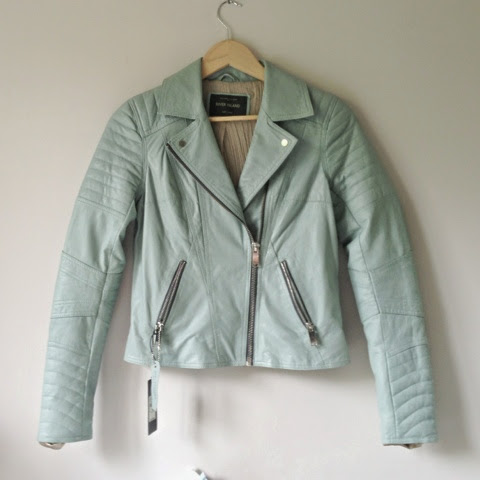Sammi Jackson - River Island Light Blue Biker Jacket