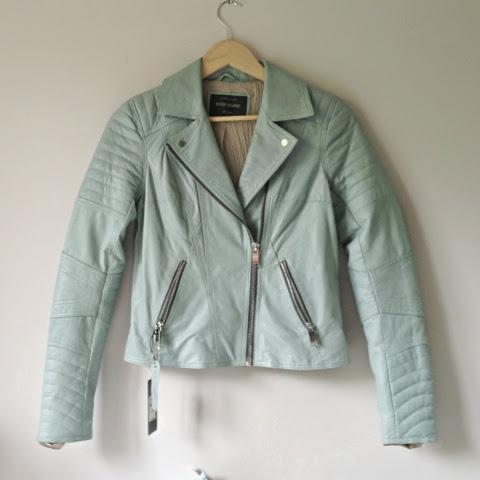 Sammi Jackson - River Island Light Blue Biker Jacket