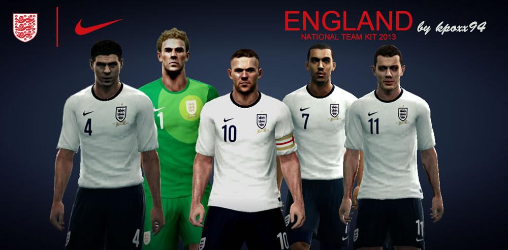 Inglaterra 2013-14 Kitset - PES 2013
