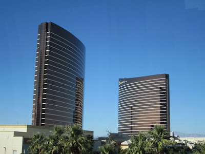 Wynn vegas towers blue sky cloudless stock photo