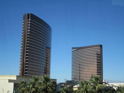 Wynn vegas towers blue sky cloudless stock photo