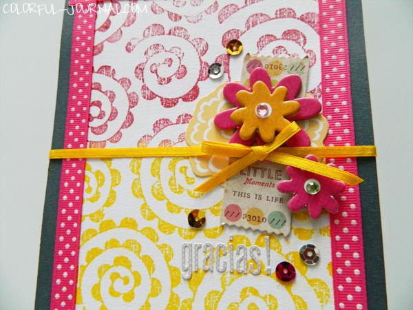 craft dash challenge pretty pink posh blog hero arts stamps dear lizzy die cut shapes