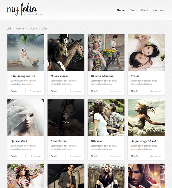 My Folio WordPress Portfolio Theme