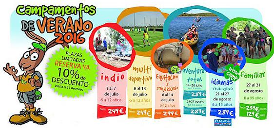 Campamento de Verano en la Costa de La Luz, Lepe.