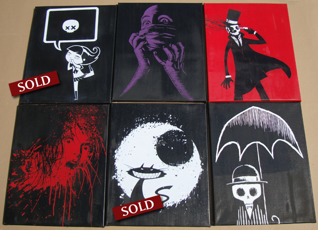 blood art, horror prints, alice in wonderland, hot topic