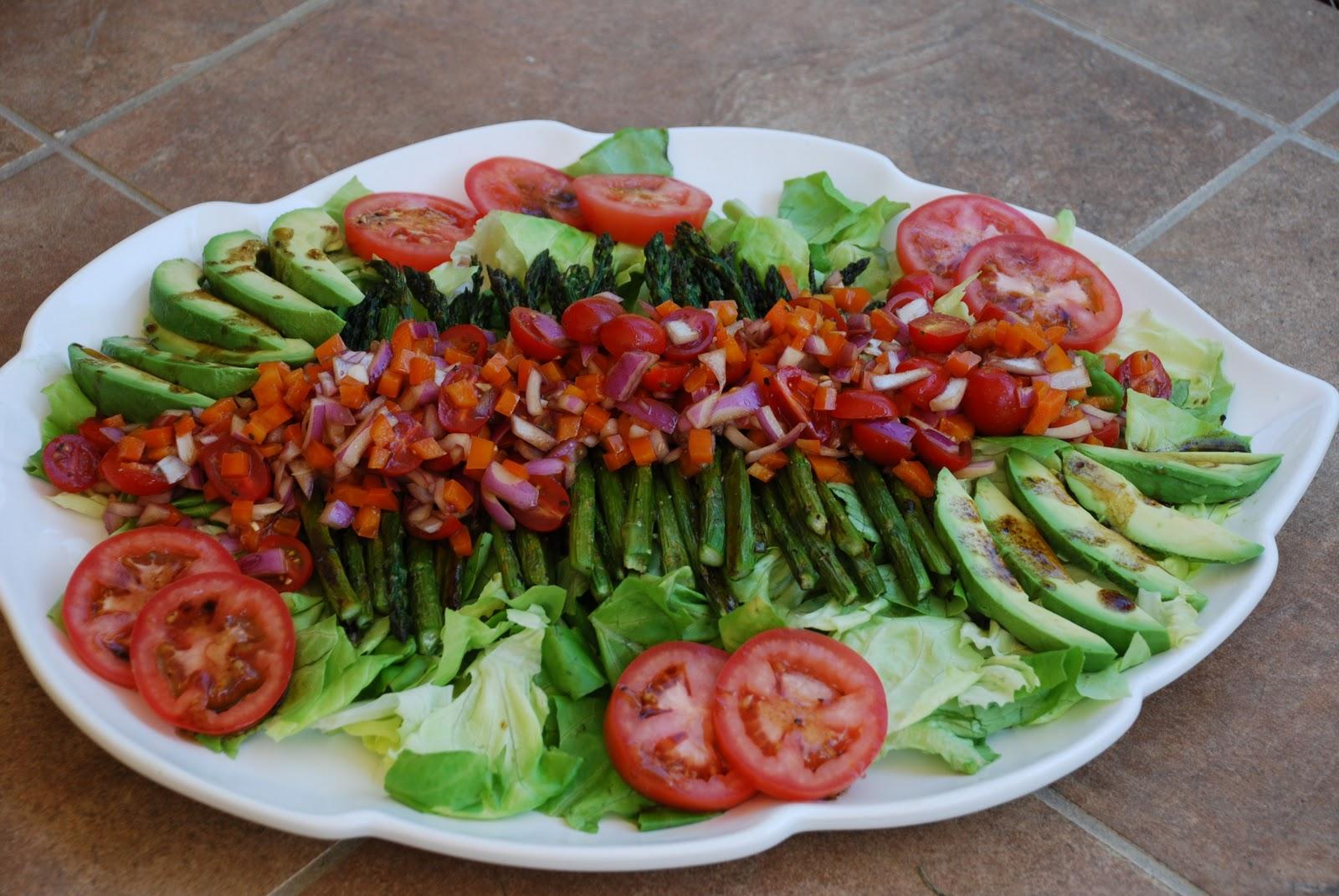Tomatoes on the Vine: Roasted Asparagus Salad