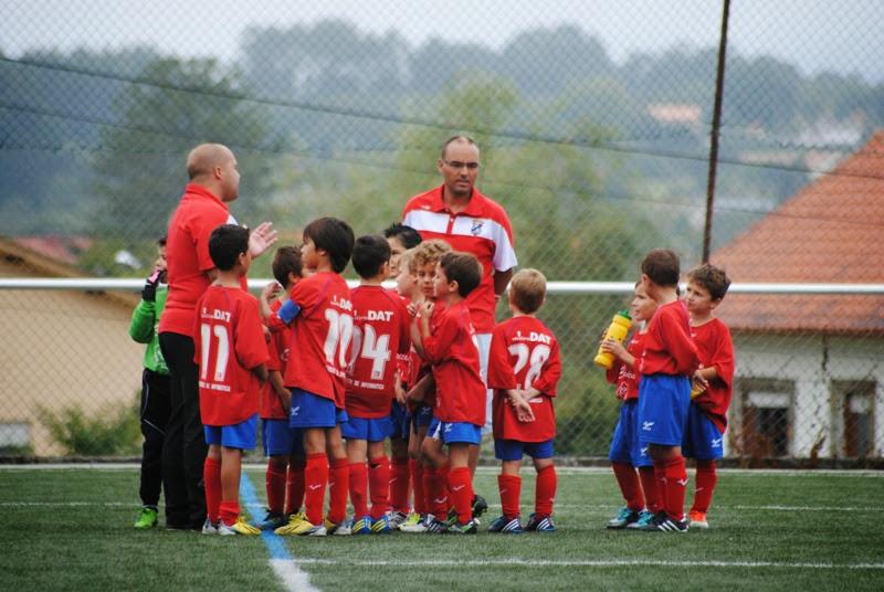Equipo Prebenxamín do Numancia instantes antes dun partido (14/09/2013)