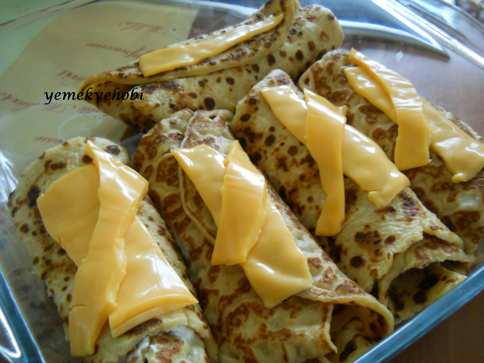 Peynirli Rulo Krep Tarifi
