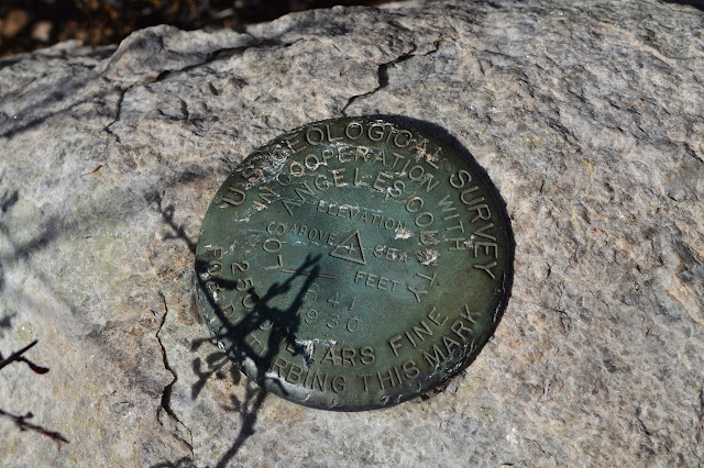 USGS and LA County benchmark R41, set in 1930