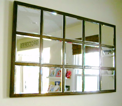 diy mirror in kitchen