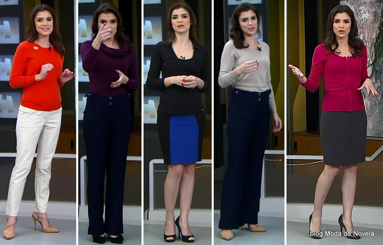 moda do programa Jornal Hoje - look da Eliana Marques na semana de 26 a 30 de maio