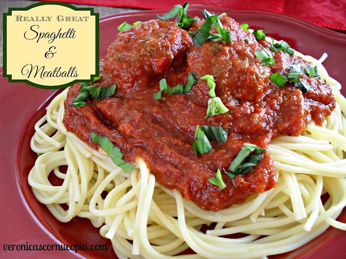 really great spaghetti & meatballs
