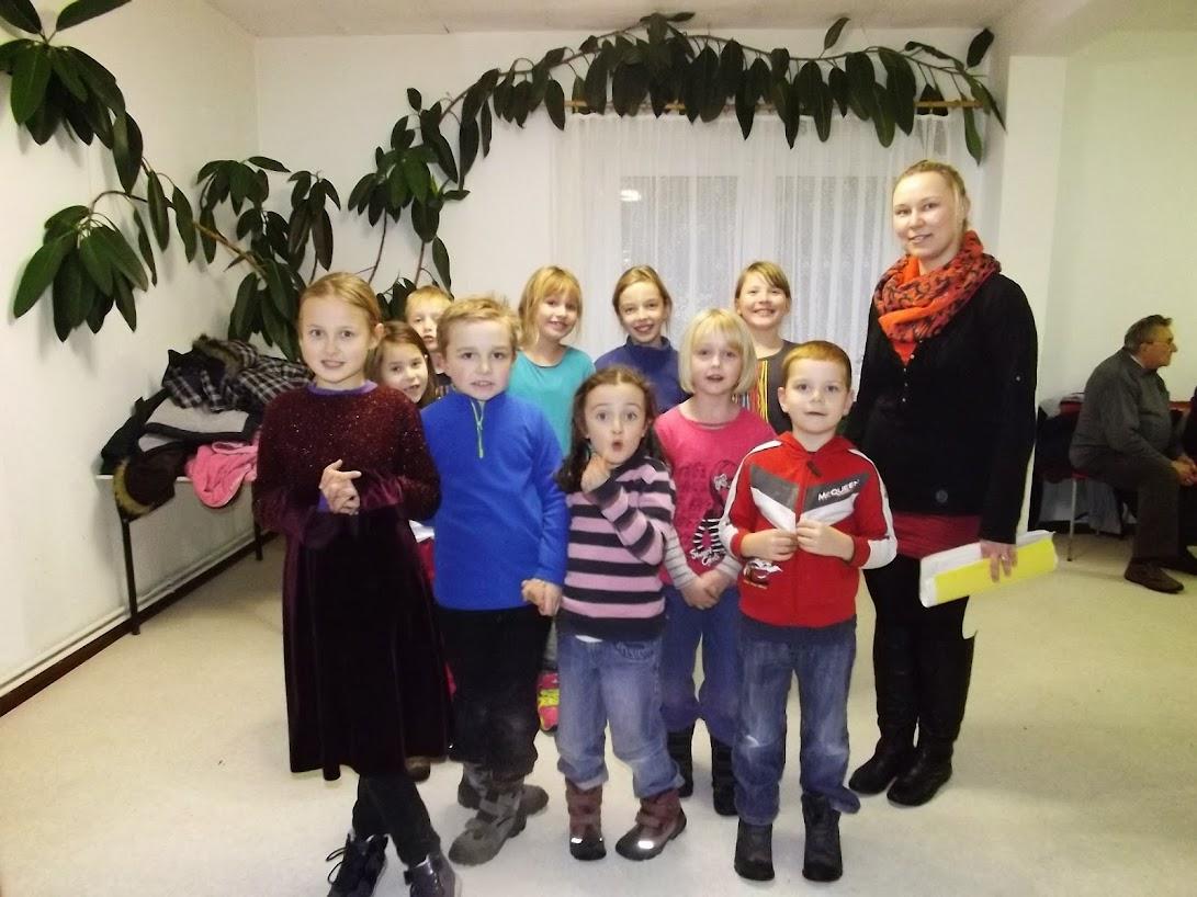 Vorfreude vor dem Auftritt: Die Hortkinder der Kita