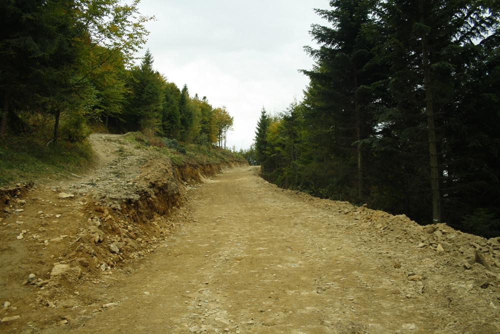 Budowa drogi na Magurkę Wilkowicką