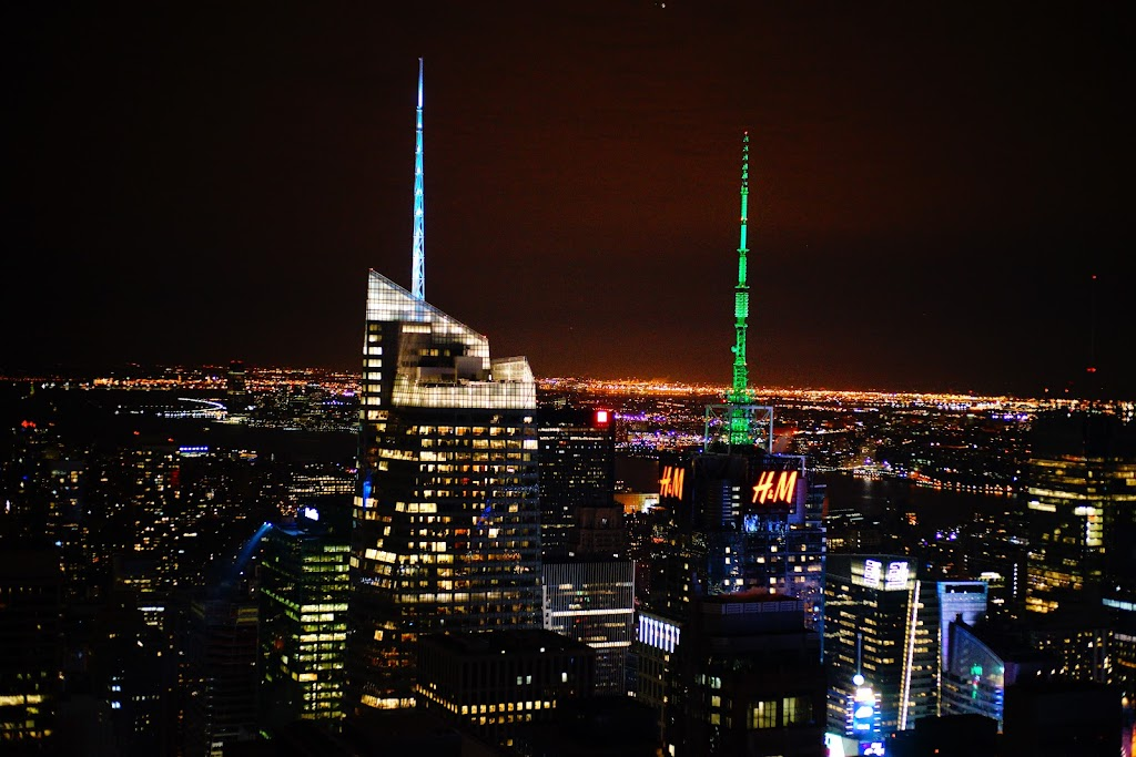 Rockefeller Center night view