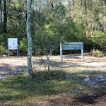 Information signs at Joes Cove Camping Area