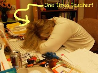 Exhausted teacher clipart