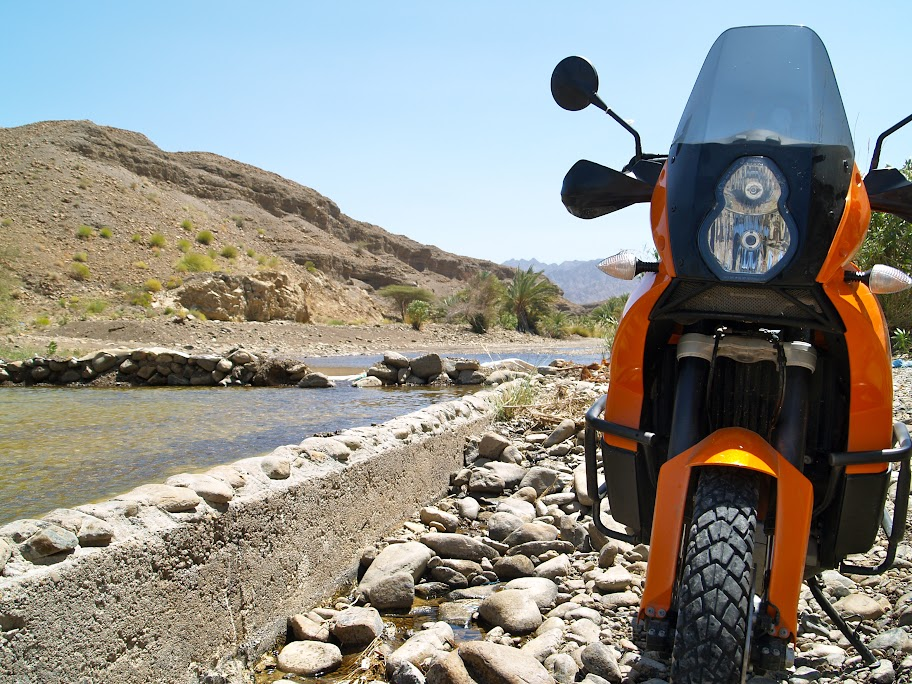 Hatta Dam with KTM 990 Adventure