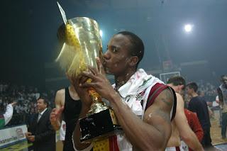Damien McSwine with Yugoslavia-Kosovo Championship trophy