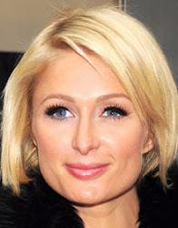 Paris Hilton rosto quadrado