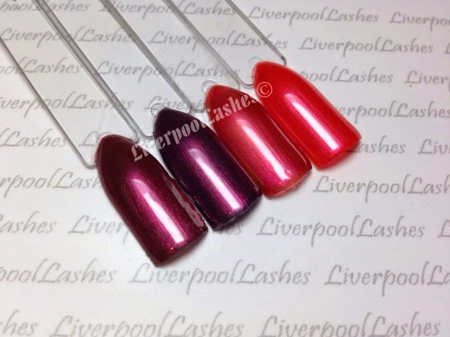 liverpoollashes liverpool lashes cnd shellac hot chillis layering combinations pro beauty blogger