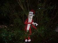 Scary Tim Burton Character from Bright Lights Christmas event in Vancouver's Stanley Park