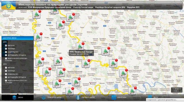 Система экологического мониторинга природно-заповедного фонда Украины разработана на платформе GeoLook