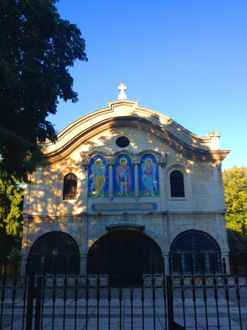 The St Georgi or St George orthodox church in the centre of Dobrich, Bulgaria.