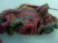 Knit Along:  Barb's Koigu Ruffle Scarf from Knitty City - Day 3 2