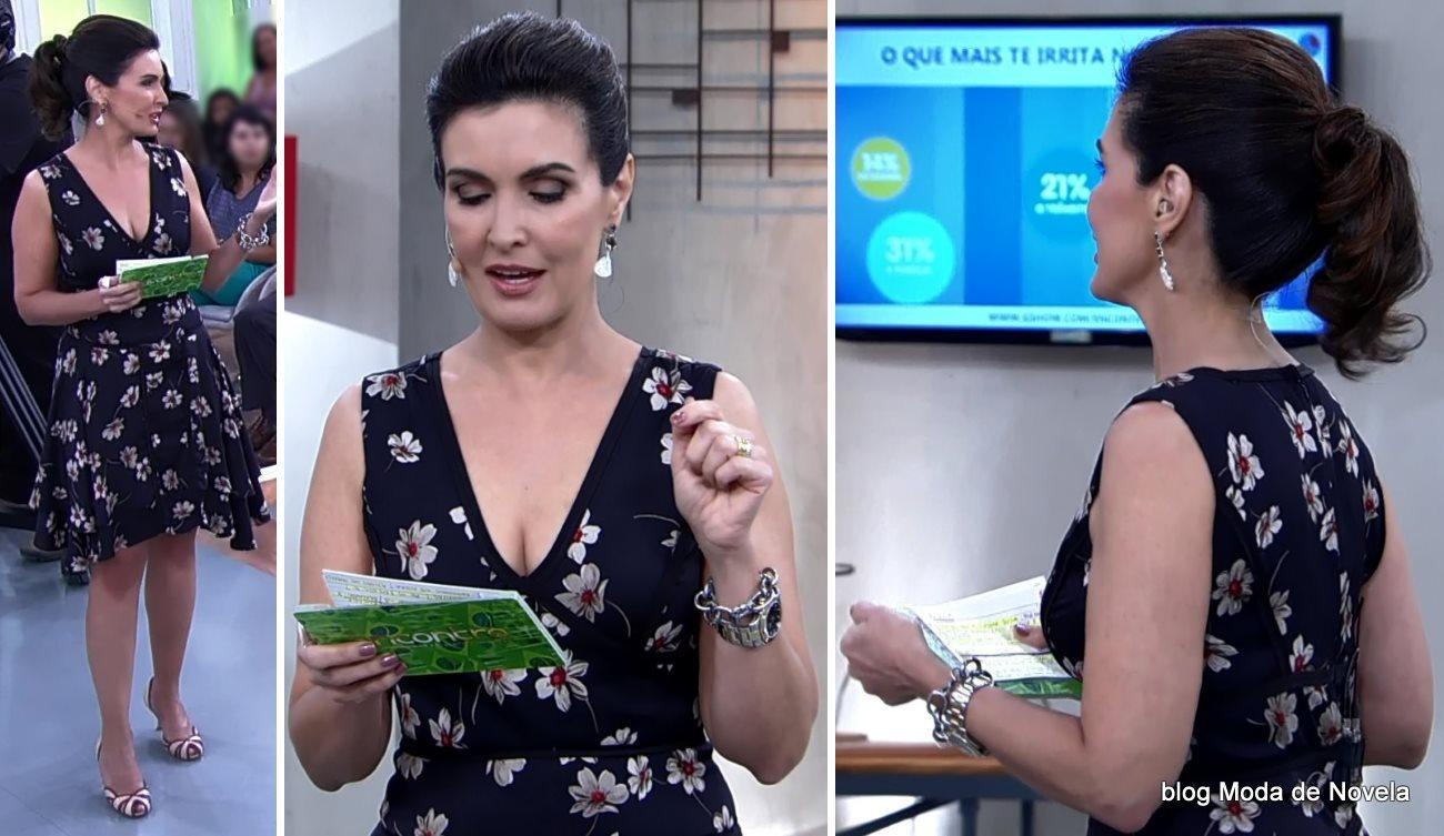 moda do programa Encontro - look da Fátima Bernardes dia 2 de julho