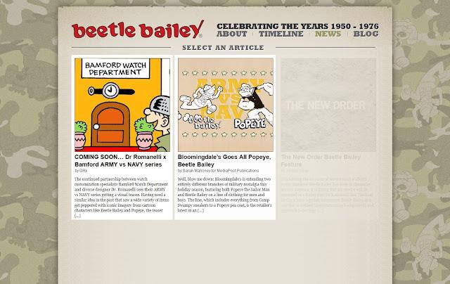 *動態呈現的美國漫畫網站|Beetle Bailey Web Site 3