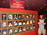 Jeff at Binion's Downtown by the Poker Hall of Fame wall