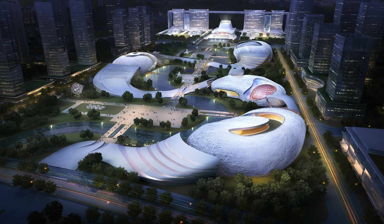 Yichang, Hubei, Cina: Yichang New District Master Plan by Amphibianarc