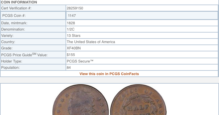 Tony Lawrence's Coins & Stuff: PCGS Secure service