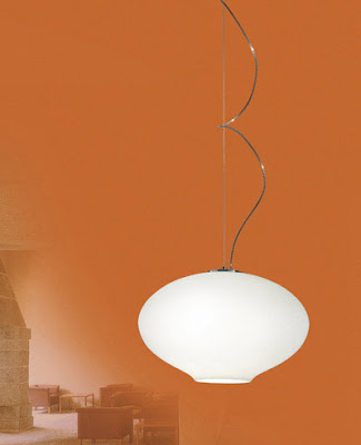 Modern Style 10244 Nemo Anita Pendant - Opal White Glass Suspension Lamp