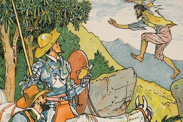 Cardenio en Sierra Morena. Don Quijote